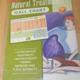 NATURAL TREATMENTS WALL CHART - POSTER CU REMEDII, ULEIURI, TRATAMENTE HOMEOPATICE - Carte paranormal