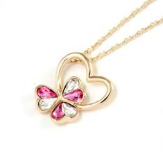 Colier Crystal Heart - Colier placate cu aur