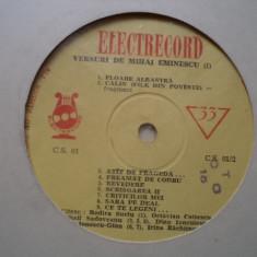 Versuri de mihai eminescu I disc vinyl citesc recita sadoveanu cotescu caramitru - Muzica soundtrack electrecord, VINIL