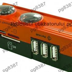 Hub USB cu 3 porturi, cititor de carduri,card reader-114219