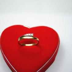 INEL AUR 18K CU DIAMANTE - Inel diamant