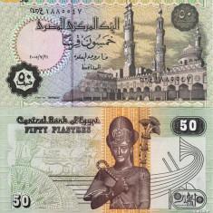 + Bancnota UNC Egipt 50 piastres 2005 + - bancnota africa
