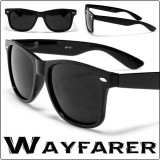 Wayfarer Cu rama neagra si Lentile black negre - Doar 35 lei perechea!, Unisex