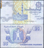 + Bancnota UNC Egipt 25 piastres +