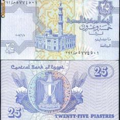 + Bancnota UNC Egipt 25 piastres + - bancnota africa