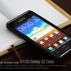 Husa TPU 2 in 1 + Folie Protectie Samsung Galaxy S2 i9100 by Yoobao Originala Black, Gel TPU