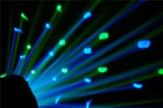 SUPER SCANNER PE LEDURI DERBY LIGHT LED,LUMINA DISCO PE LEDURI MODEL,SENZOR. foto