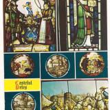 Carte postala(ilustrata)-SINAIA-Castelul Peles Vitralii - Carte Postala Muntenia dupa 1918, Circulata, Printata