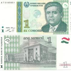 TADJIKISTAN- 1 SOMONI 1999- UNC!!