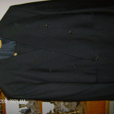 Costum barbati aproape nou1,,, Marime: 52, Culoare: Negru, Doua randuri de nasturi, Marime sacou: 52, Normal