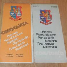 De colectie. lot 2 planuri harta ale orasului Constanta. 1976, 1979