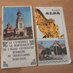 De colectie. lot 2 pliante -EPOCA DE AUR - ALBA IULIA (LB GERMANA, LB FRANCEZA)