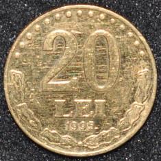 ROMANIA 20 LEI 1995 PLACATA CU AUR - Moneda Romania