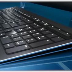 Tastatura Wireless HP Black Silent Slim 2.4 GHz FQ480AA ( Taste volum si Sleep ), Multimedia, Fara fir, USB