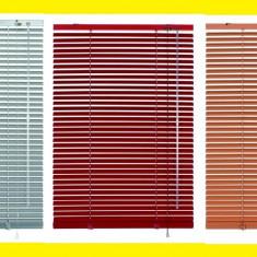 Jaluzele orizontale PVC diferite marimi, culoare maro deschis/inchis. - Jaluzea