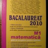 M. Baluna, M.E. Panaitopol, M. Piticari, M. Popa - Bacalaureat 2010 - Matematica M1 - Ghid de pregatire pentru examen - Teste Bacalaureat