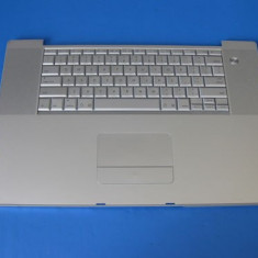 Palmrest +boxe + touchpad + tastatura netestata APPLE POWERBOOK G4 A1107 Argintiu - Carcasa laptop