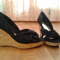 Sandale platforma H&M - Sandale dama H&m, Culoare: Negru, Marime: 37, Negru