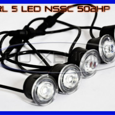 DRL ZDM 5-LED 1W - NSSC 502HP - DAYTIME RUNNING LIGHT - LUMINI DE ZI, Universal