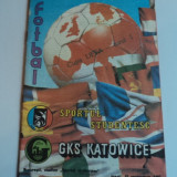 Program meci fotbal SPORTUL Studentesc - GKS KATOWICE 15.09.1987