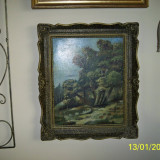 Tablou ulei pe panza semnat - Pictor roman, Natura, Realism