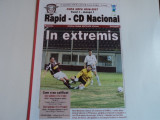 Program meci fotbal RAPID Bucuresti - CD NACIONAL Funchal 14.09.2006