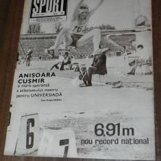 REVISTA SPORT SPORTUL ILUSTRAT - nr 6/1981 - UNIVERSITATEA CRAIOVA PENTRU A TREIA OARA CAMPIOANA ROMANIEI. STEAUA CAMPIOANA LA HANDBAL SI RUGBY - Carte sport