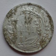 5 lei 1947 - 5 - Eroare - depuneri de material impresionante - Moneda Romania