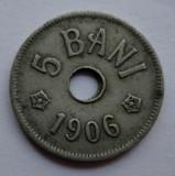 5 bani 1906 J - 7 - eroare de batere