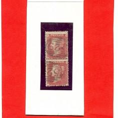 34-ANGLIA-MAREA BRITANIE-1858 SG 20 Pereche verticala Stampilata