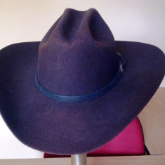 Palarie Cowboy, Stetson, marimea 59, maro inchis, Made in USA, hat room