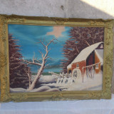 Tablou pictat in ulei pe panza. - Pictor roman, Peisaje, Realism
