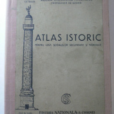 ATLAS ISTORIC - AGLAIA GHEORGHIU FRIEDMAN - EDITURA NATIONALA CIORNEI BUCURESTI - PERIOADA INTERBELICA - CONTINE 30 DE HARTI FORMAT 30 X 22 CM