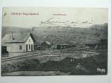 GARA CFR LUPSA - VALEA ARIESULUI - JUD ALBA  -  CALEA FERATA DE LINIE INGUSTA TURDA - ABRUD ( ACTUALMENTE DEZAFECTATA ) - ILUSTRATA RARA - ANUL 1917