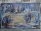 Cumpara ieftin Peisaj iarna , tablou , pictura in ulei pe panza