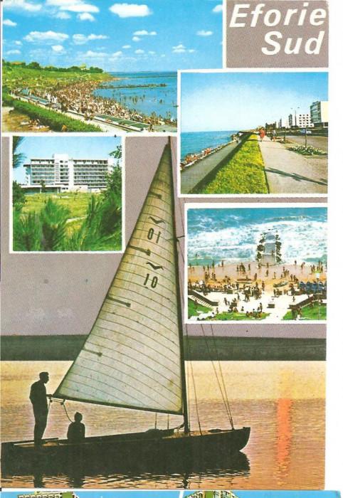 CPI (B1411) EFORIE SUD, MOZAIC 5 IMAGINI, EDITURA MERIDIANE, ARTA GRAFICA, SCRISA SI NECIRCULATA, IULIE 1989,