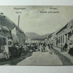 IGHIU (MAGYARIGEN ) - JUD. ALBA - MULTA ANIMATIE - ZI DE TARG - INCEPUTUL ANILOR 1900 - ILUSTRATA RARA
