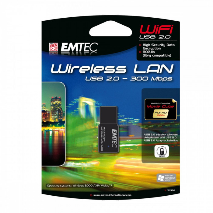 EMTEC Wi350 - nano USB WiFi 300Mbps cu RTL8191SU Wireless