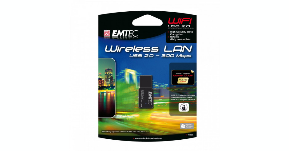 EMTEC Wi350 - nano USB WiFi 300Mbps cu RTL8191SU Wireless 802 11n