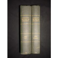 COLECTIUNE DE LEGI SI REGULAMENTE - DECRETE, DECISIUNI MINISTERIALE tomul X partea I + II {1932}