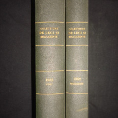 COLECTIUNE DE LEGI SI REGULAMENTE - DECRETE, DECISIUNI MINISTERIALE tomul X partea I + II {1932} - Carte de lux