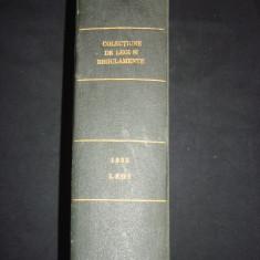 COLECTIUNE DE LEGI SI REGULAMENTE - DECRETE, DECISIUNI MINISTERIALE tomul XIII partea I {1935} - Carte de lux