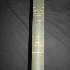 COLECTIUNE DE LEGI SI REGULAMENTE - DECRETE, DECISIUNI MINISTERIALE tomul VII {1929} - Carte de lux