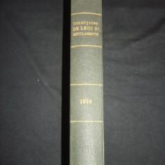 COLECTIUNE DE LEGI SI REGULAMENTE - DECRETE, DECISIUNI MINISTERIALE tomul II {1924-1925} - Carte de lux