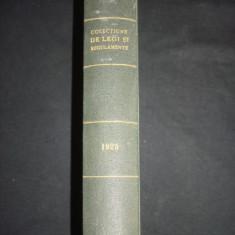 COLECTIUNE DE LEGI SI REGULAMENTE - DECRETE, DECISIUNI MINISTERIALE tomul III {1925} - Carte de lux