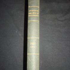 COLECTIUNE DE LEGI SI REGULAMENTE - DECRETE, DECISIUNI MINISTERIALE tomul V {1927} - Carte de lux