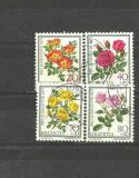 ELVETIA 1977 - FLORI TRANDAFIRI, serie stampilata, B19