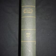 COLECTIUNE DE LEGI SI REGULAMENTE - DECRETE, DECISIUNI MINISTERIALE tomul VIII partea 1 B {1930} - Carte de lux