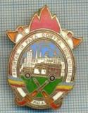 94 INSIGNA-FRUNTAS IN PAZA CONTRA INCENDIILOR-P.C.I.-pompieri-starea ce se vede