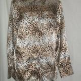 BLUZA DIN SATIN ANIMAL PRINT,, AUTHENTIC - Bluza dama, Marime: 42, Culoare: Multicolor, Maneca lunga, Universala